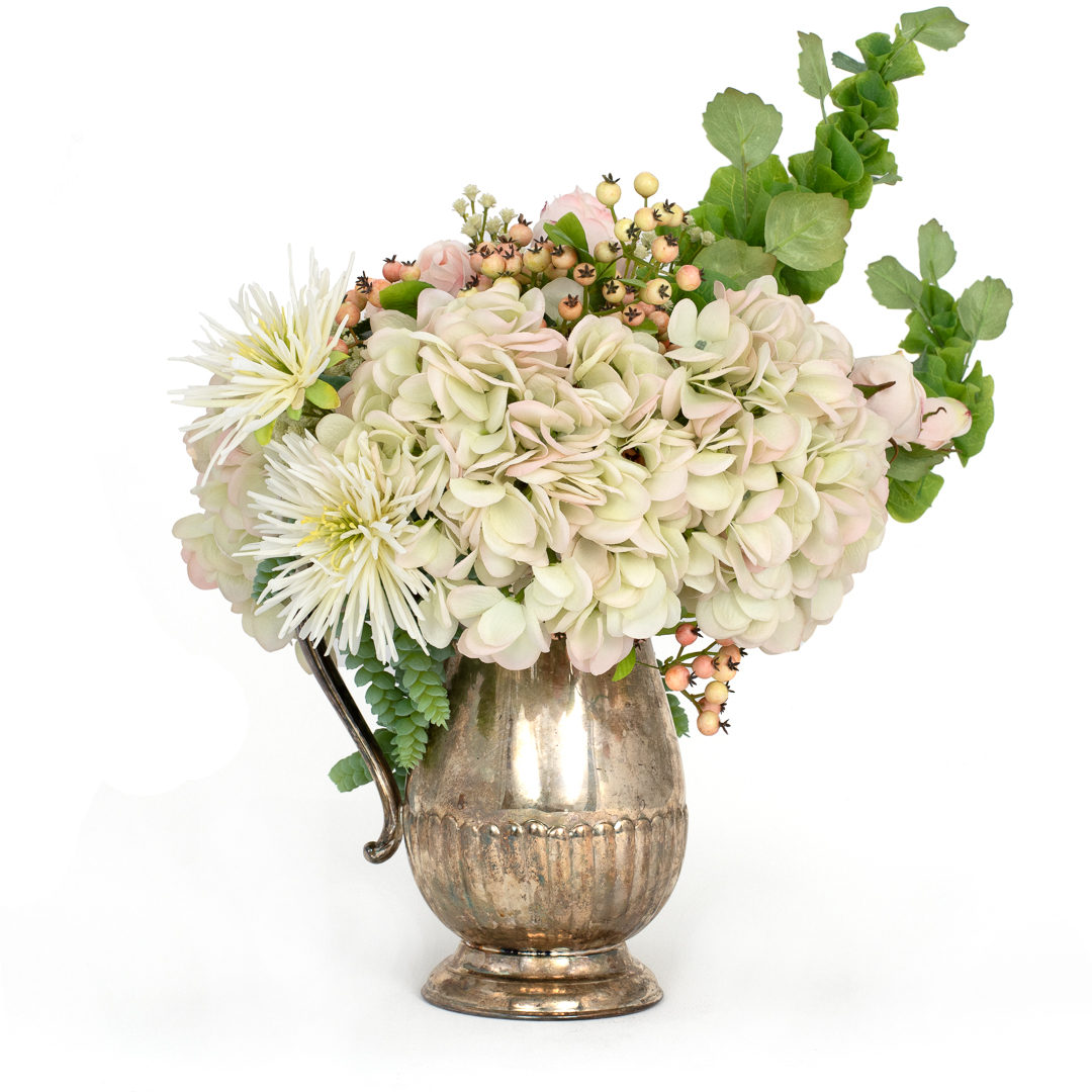 Artificial Hydrangea Arrangement Sylvia The Blumerie Ultra Realistic Modern Artificial Flowers